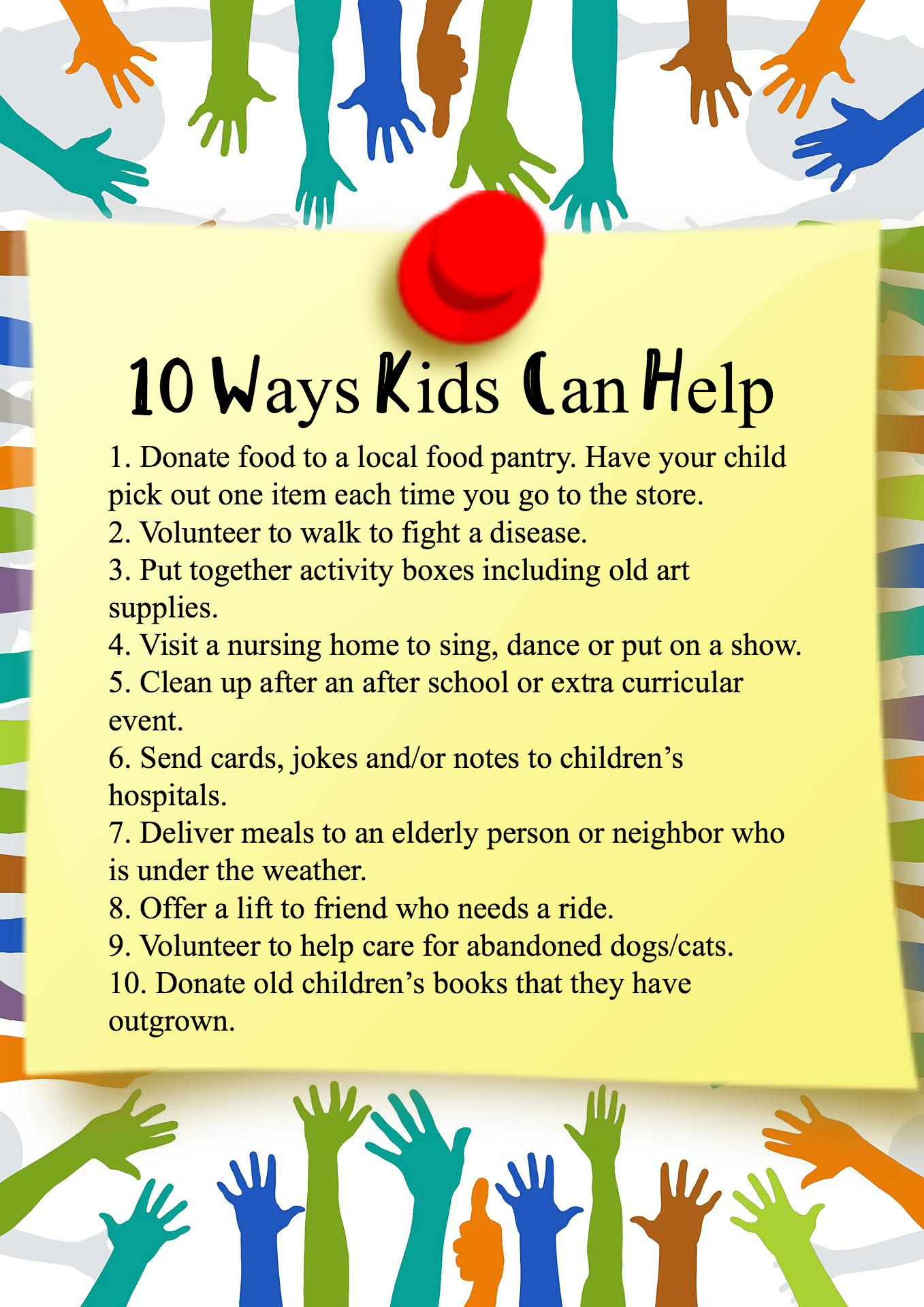 Kids and Volunteering to Help Others