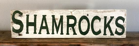 Shamrocks sign