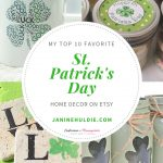 My Top 10 Favorite Etsy St. Patrick's Day Home Decor + FREE Printable
