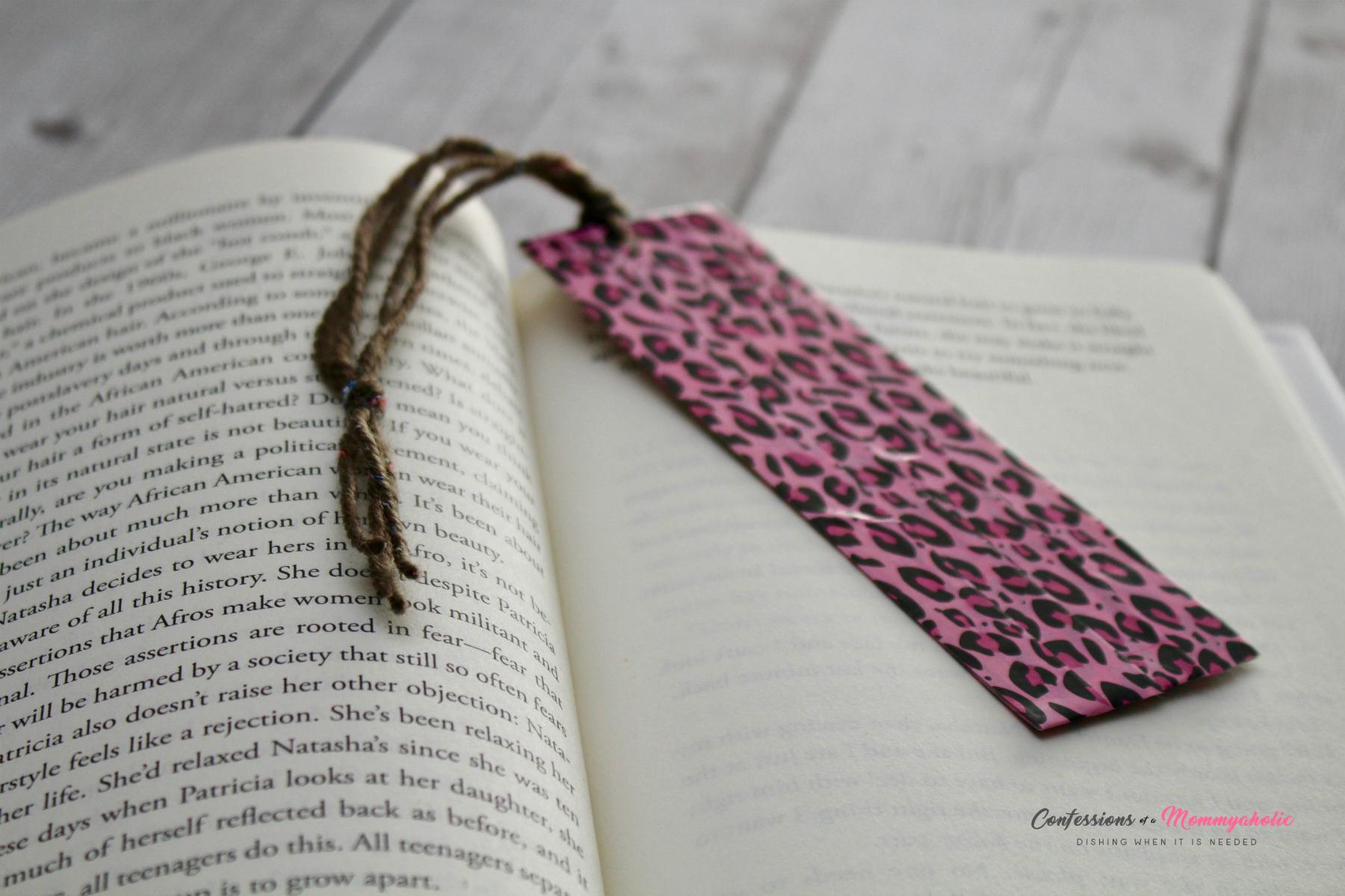 DIY Washi Tape Bookmark in Book