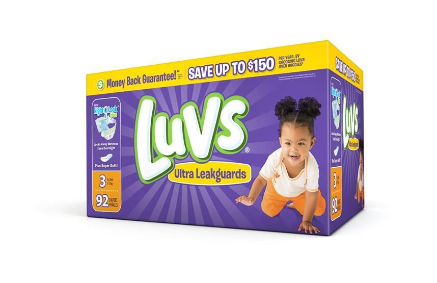 Luvs Diapers box
