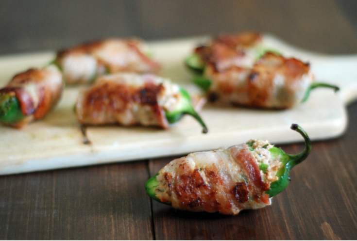 BACON WRAPPED STUFFED JALAPEÑOS POPPERS