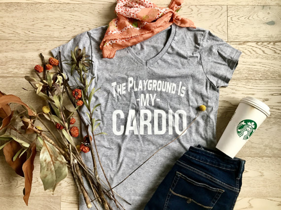 The Playground is My Cardio Shirt Etsy