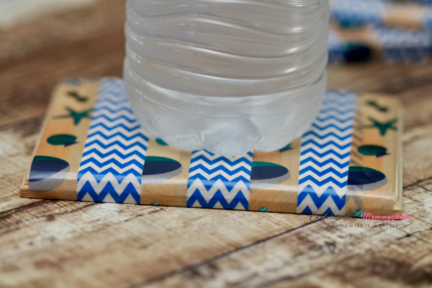 Bottled Water on Summer Drink Coaster