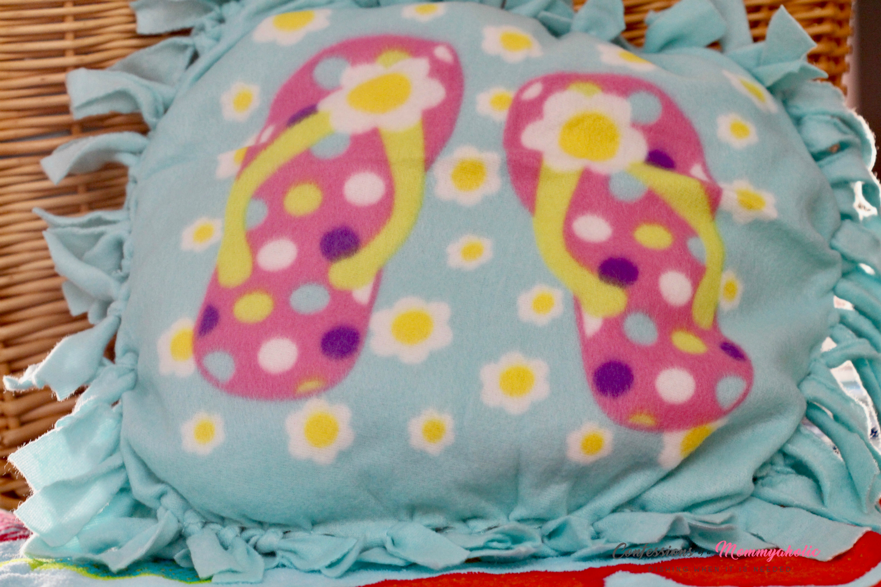 Easy Flip Flops Pillow Craft