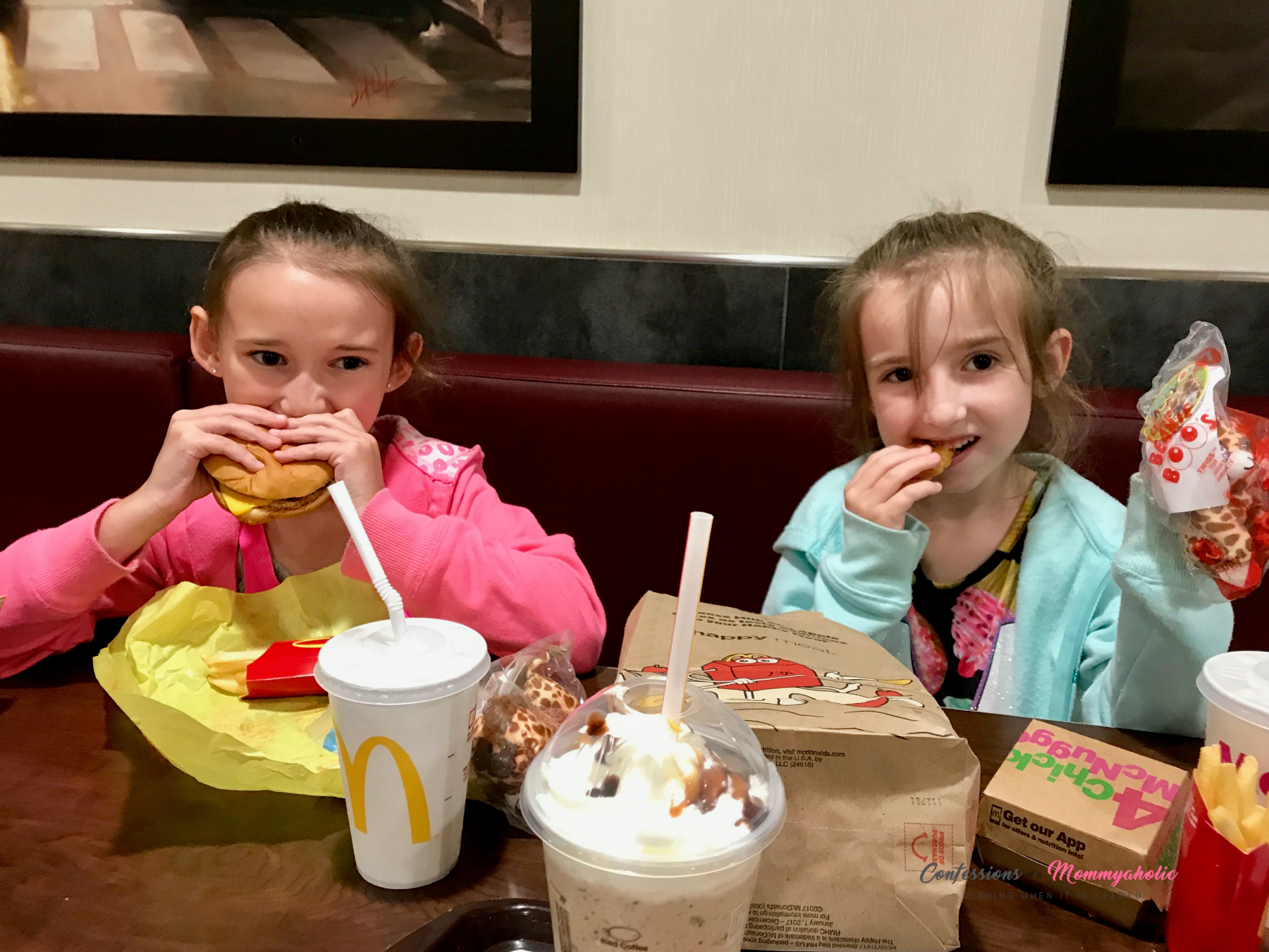 Girls eating McDonald's