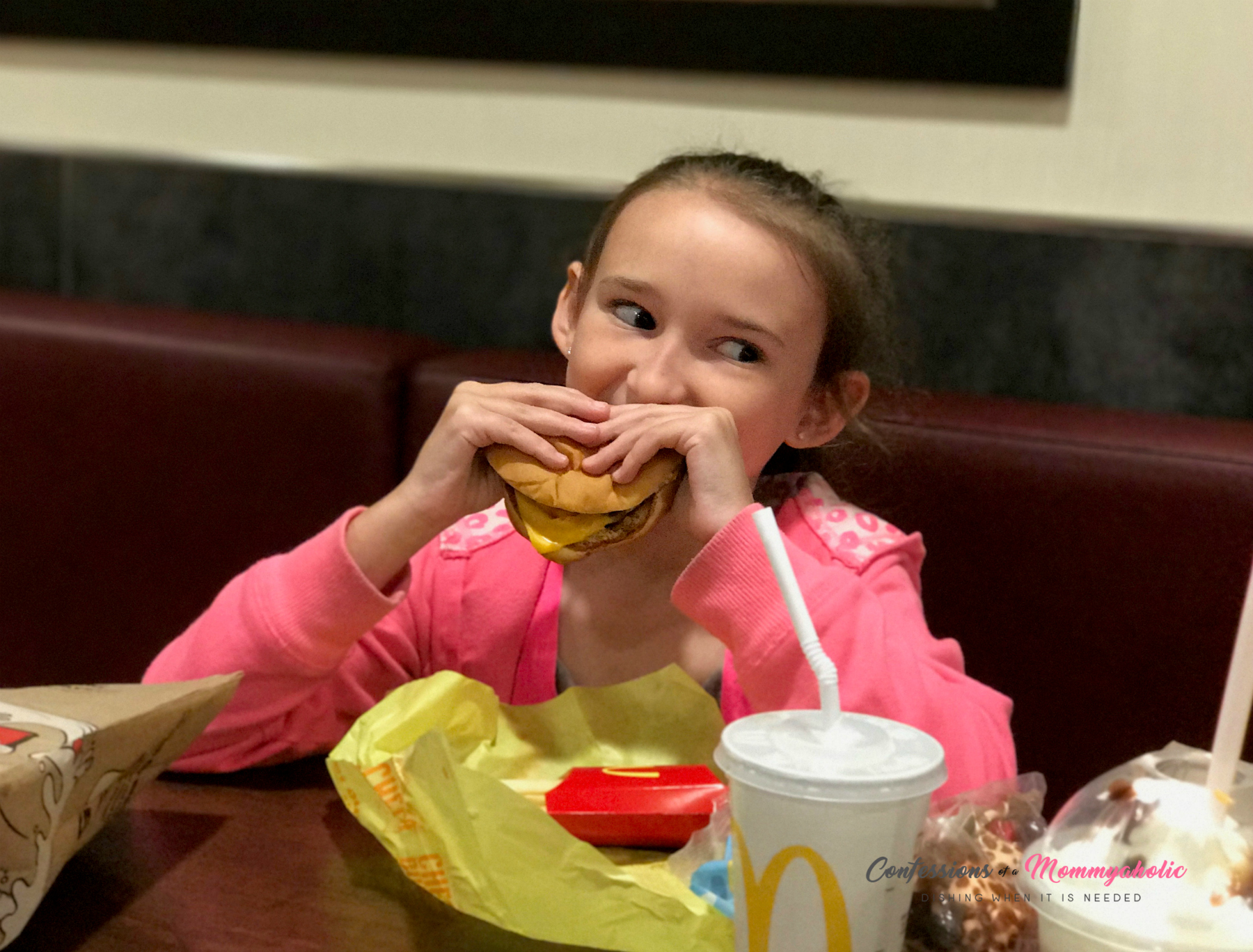 Happily Eating McDonald's