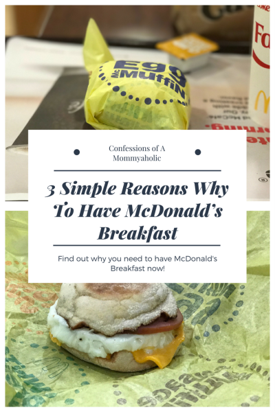 3 Simple Reasons Why To Have McDonald's Breakfast