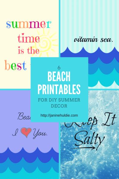 6 Beach Printables for DIY Summer Decor