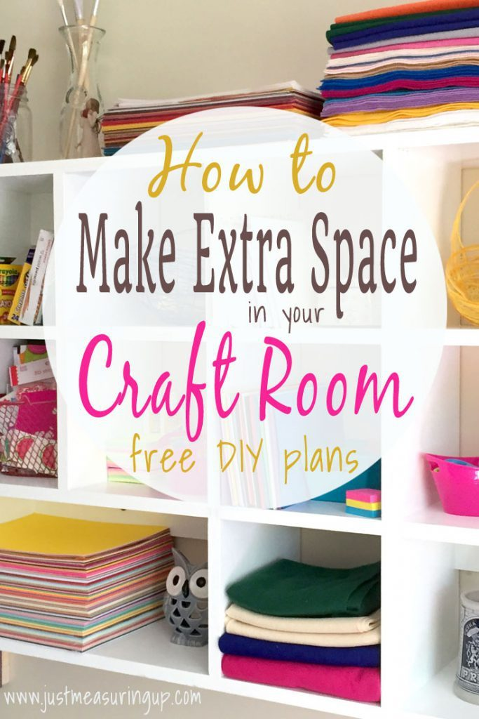 How to Make Extra Room in Your Craft Room