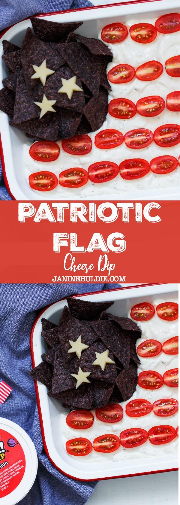 Patriotic Flag Cheese Dip