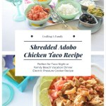Shredded Adobo Chicken Tacos Recipe #TSSBH