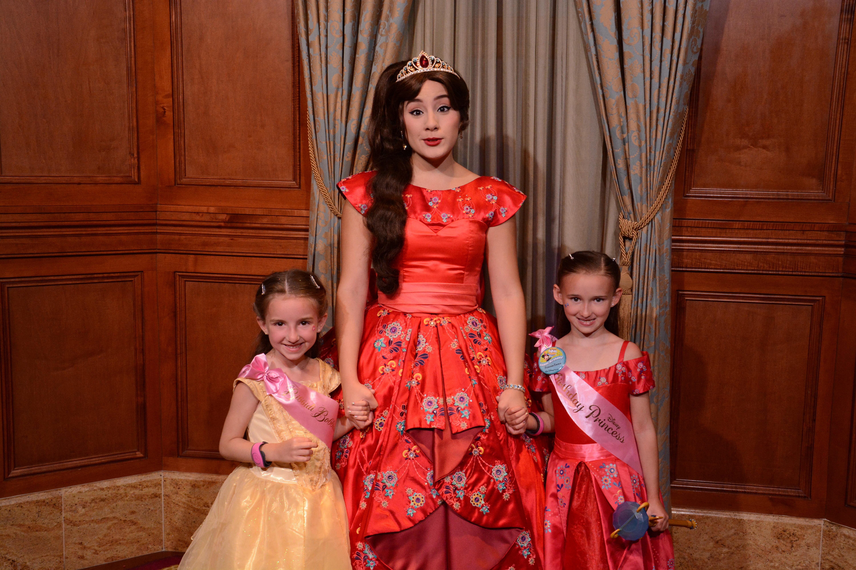 Meetin Princess Elena in Magic Kingdom