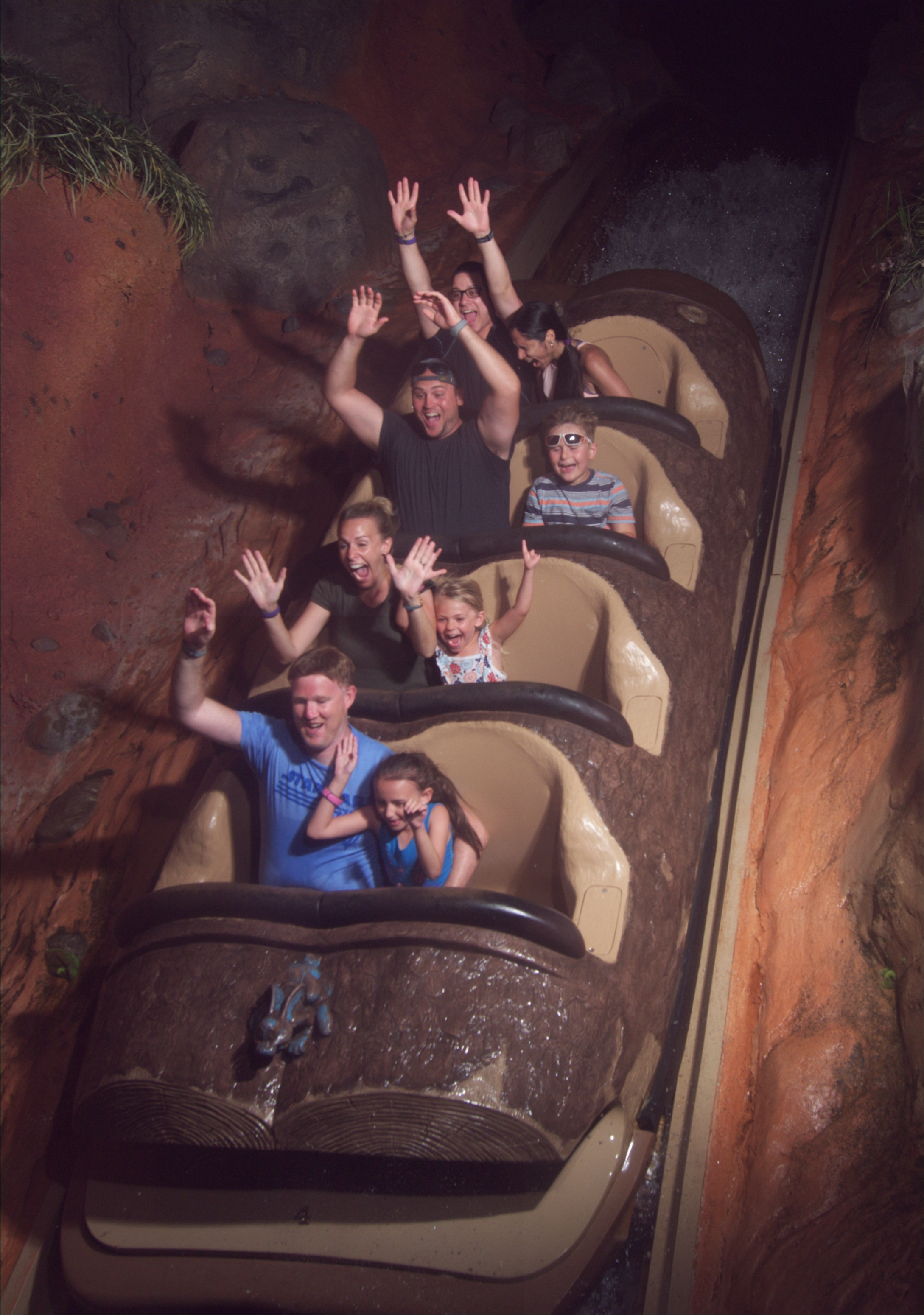 On Disney World Magic Kingdom Splash Mountain