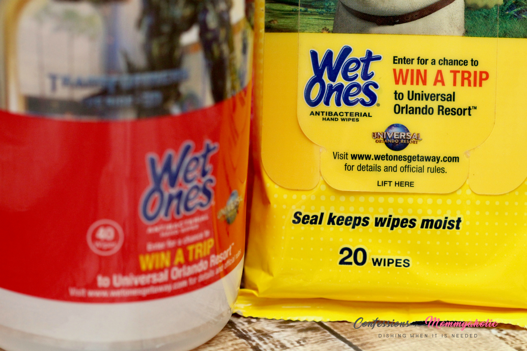Wet Ones Win A trip to Universal for Moms Messes