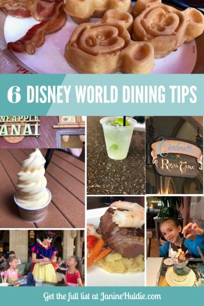 6 Disney World Dining Tips