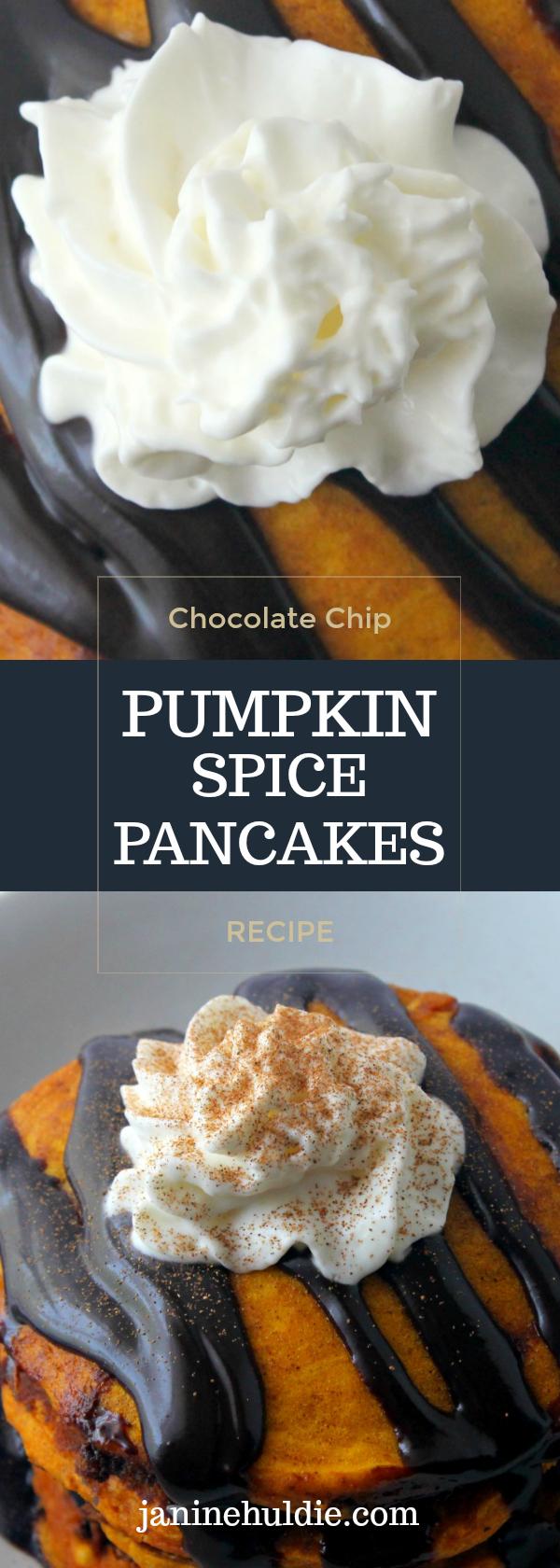 Chocolate Chip Pumpkin Spice Pancakes Long Pin