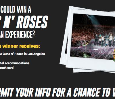 Guns n Roses Penzoil Offer