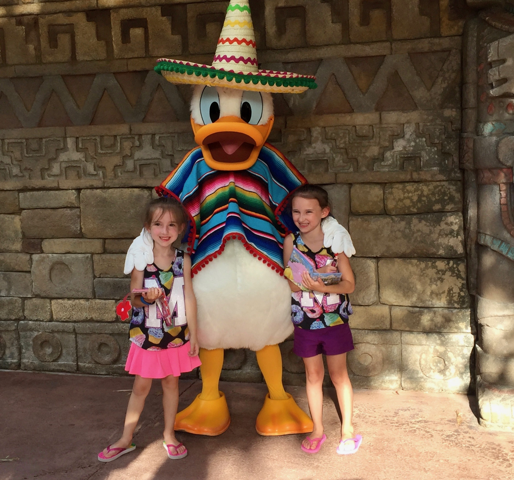 At Disney's Epcot in Mexico with Donald Duck