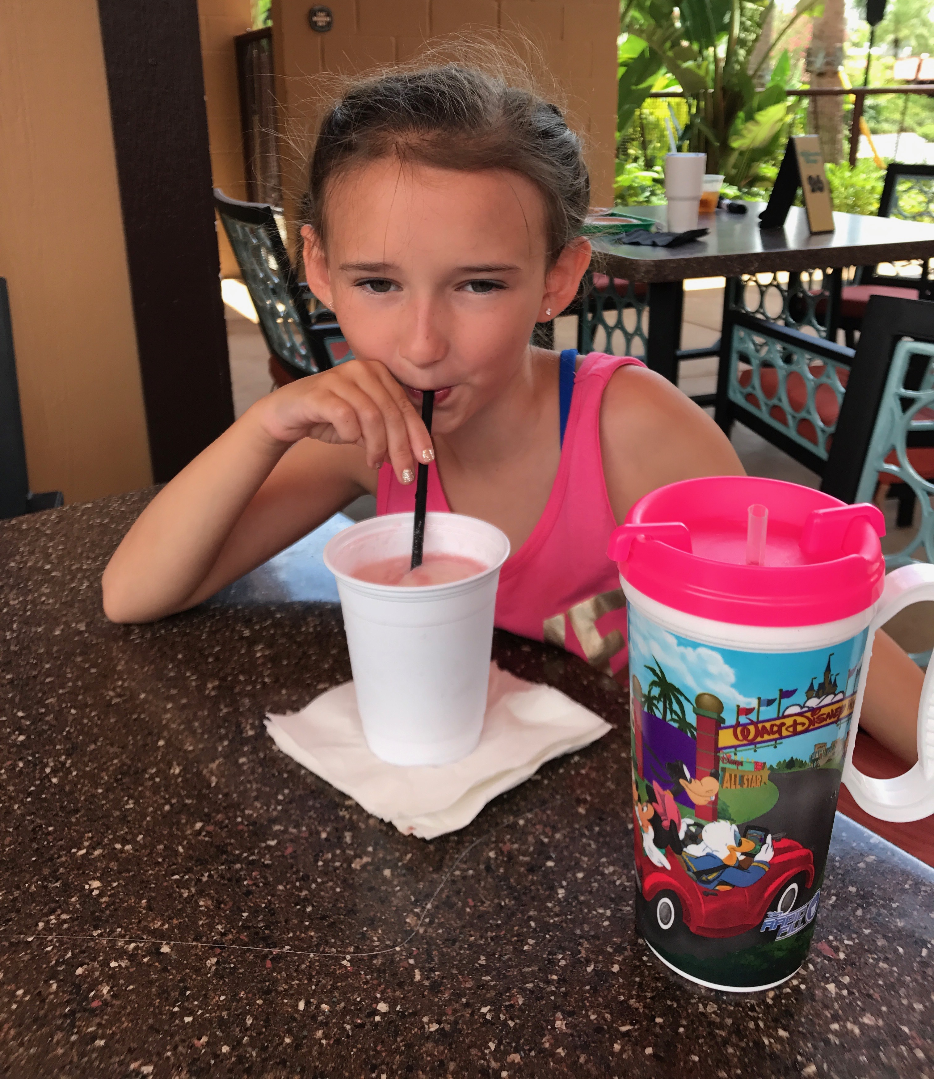 Snacking at Disney Polynesian Resort Pool Bar and Grill
