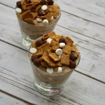 Layer 5 of S'mores Breakfast Parfait Cups