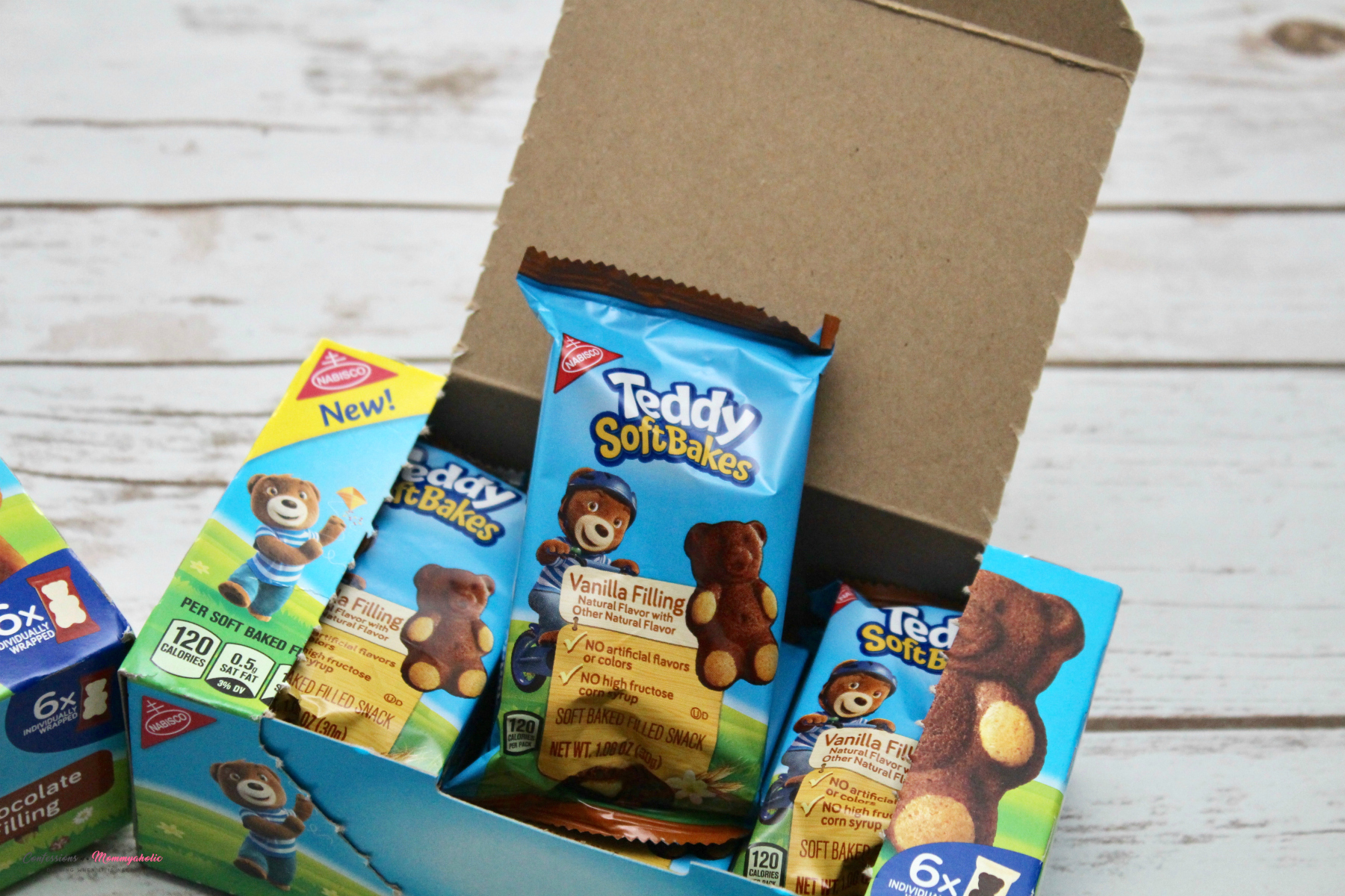 Opened Teddy Soft Bakes Box