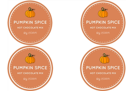 PUMPKIN SPICE Hot Chocolate Mix Labels