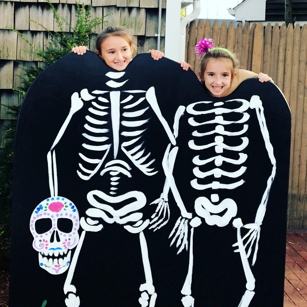 The Girls Having Skeletal Fun at Milleridge Inn for Halloween Festival 2017