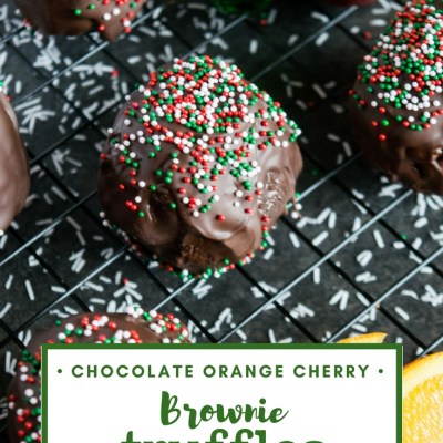 Chocolate Orange Cherry Brownie Truffles Recipe