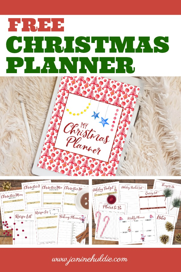 image about Free Printable Christmas Planner known as Absolutely free Xmas Planner Printable Accessible At this time! - COAM
