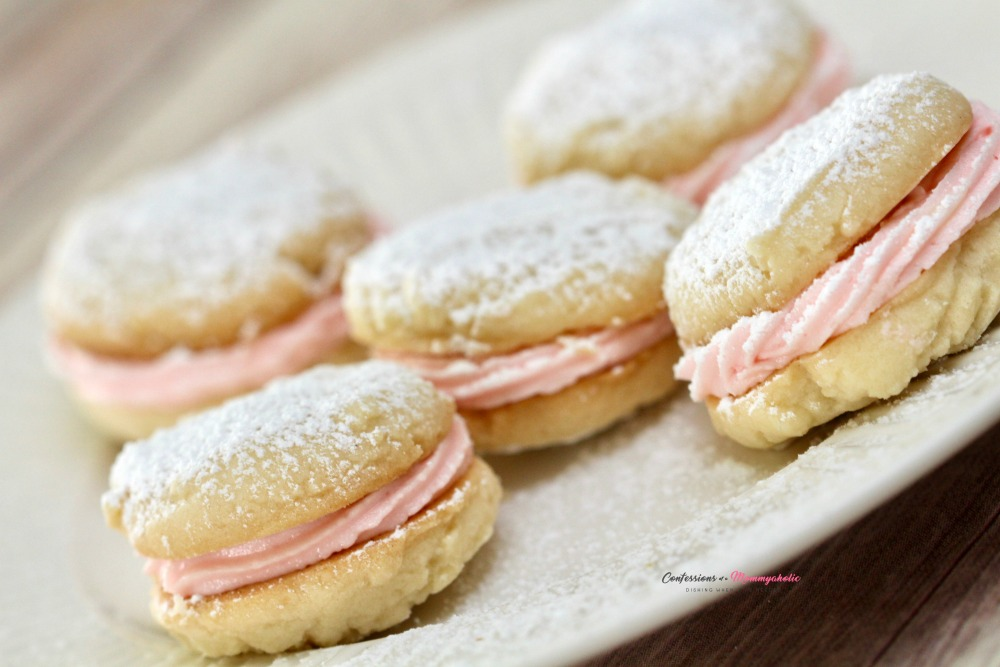 Peppermint Shortbread Buttercream Sandwich Cookies 2