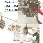 DIY Rustic Pinecones Garland Craft