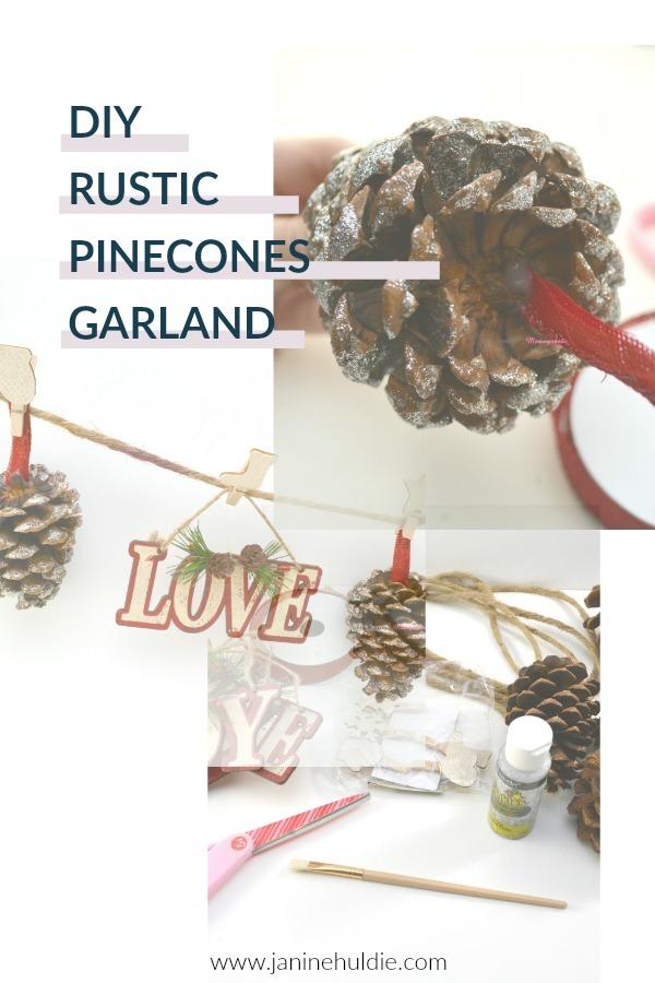DIY Rustic Pinecones Garland