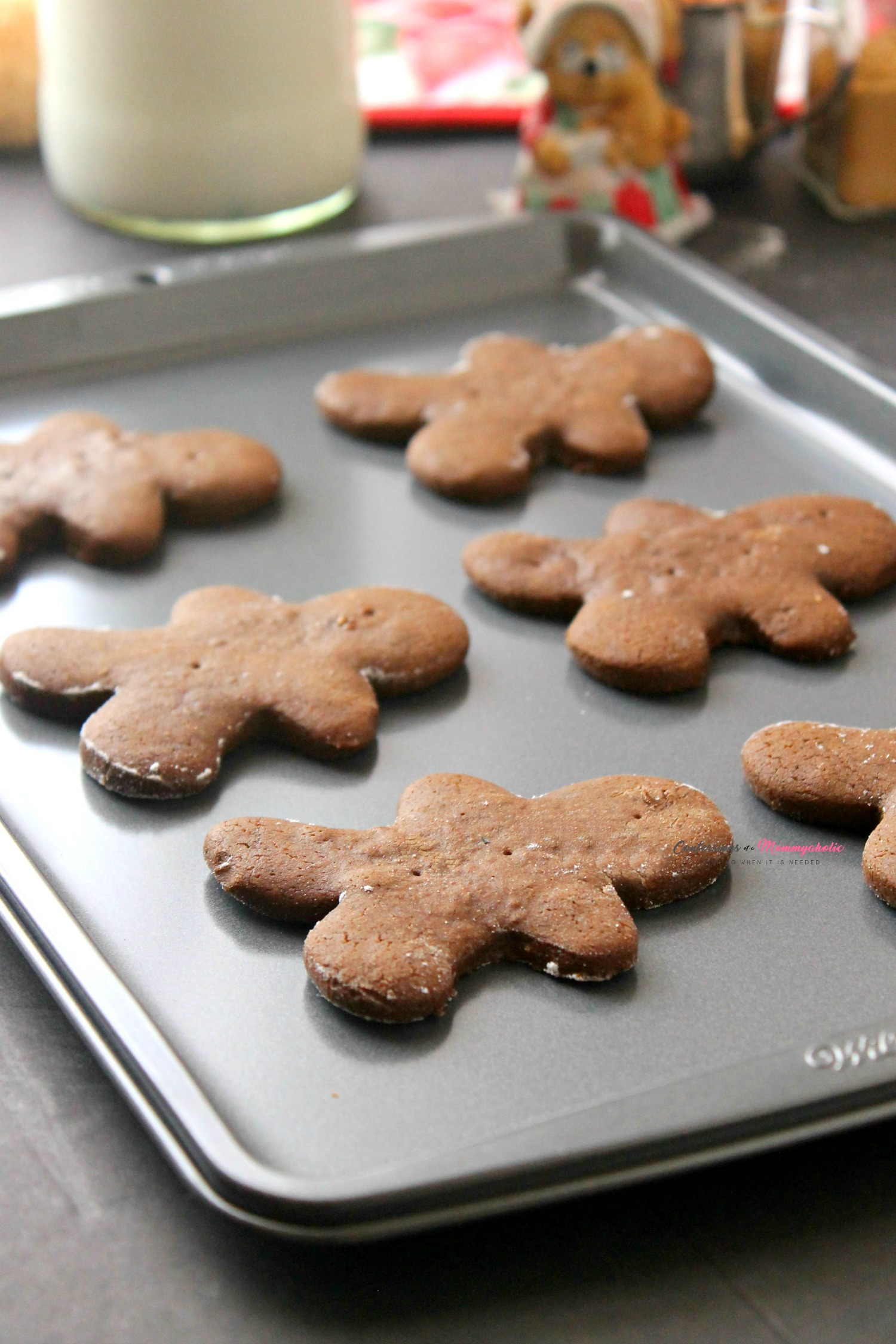 Gingerbread Man Cookies Baked
