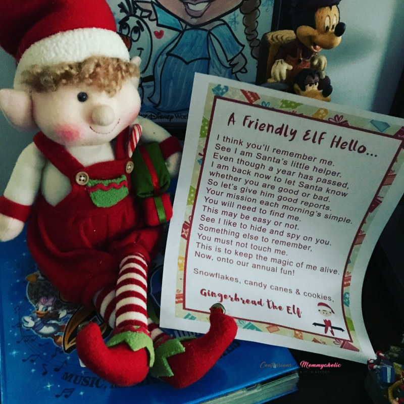 Gingerbread the Elf Welcome Back Letter