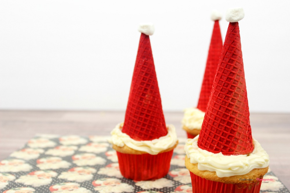 Santa Cupcakes Recipe Horizontal