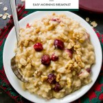 Easy Overnight Cranberry Eggnog Oatmeal Recipe