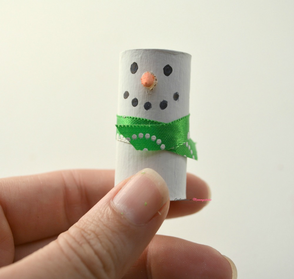 Step 4 for Wine Cork Snowman Ornament