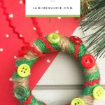 Easy to Make Wreath Mason Jar Lid Ornament