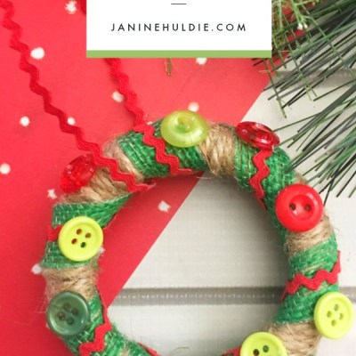 Wreath Mason Jar Lid Ornament