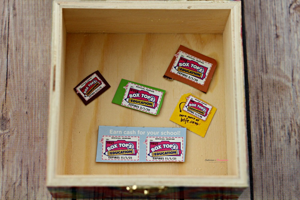 Box Tops Clips inside DIY Box WM