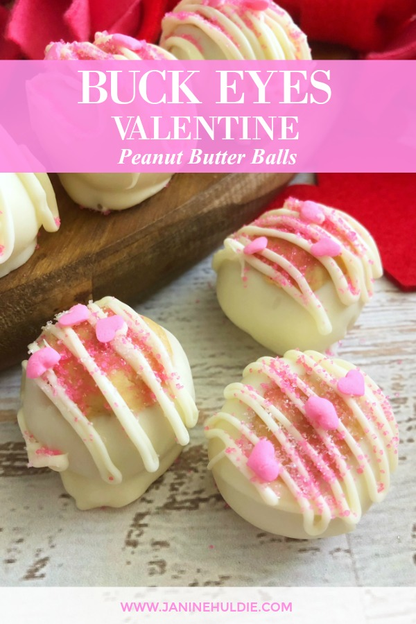 Buck Eye Valentine Peanut Butter Balls