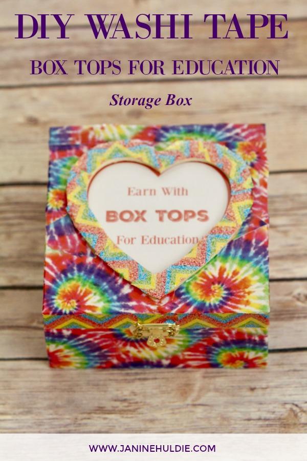 DIY Washi Tape Box Tops Box