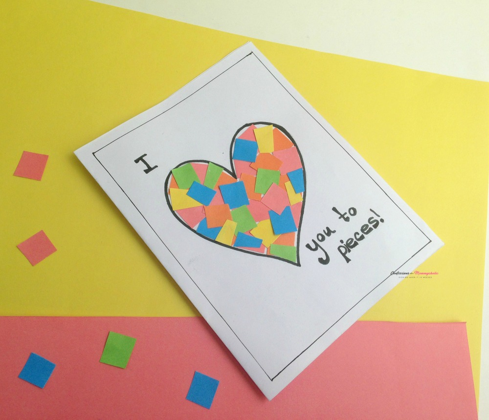 Easy Heart Pieces Kids Craft Card 2