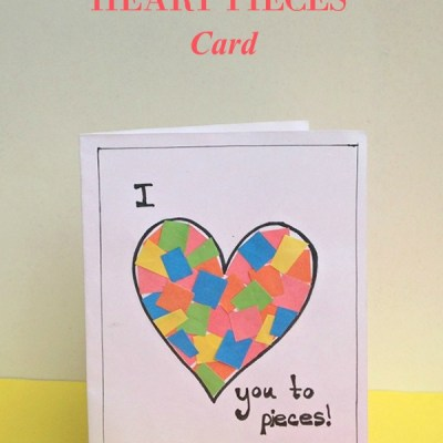 Easy Heart Pieces Kids Craft Card