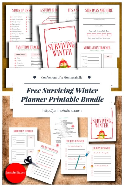 Free Surviving Winter Planner Printable Bundle