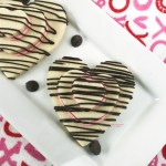 Horizontal Heart Shaped Valentine Stacked Cookies 2