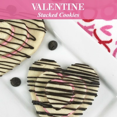 Heart Shaped Valentine Stacked Cookies Recipe