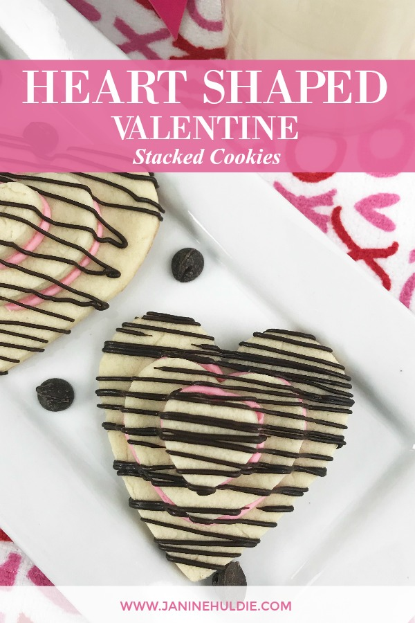 Valentine Heart Shaped Stack Cookies