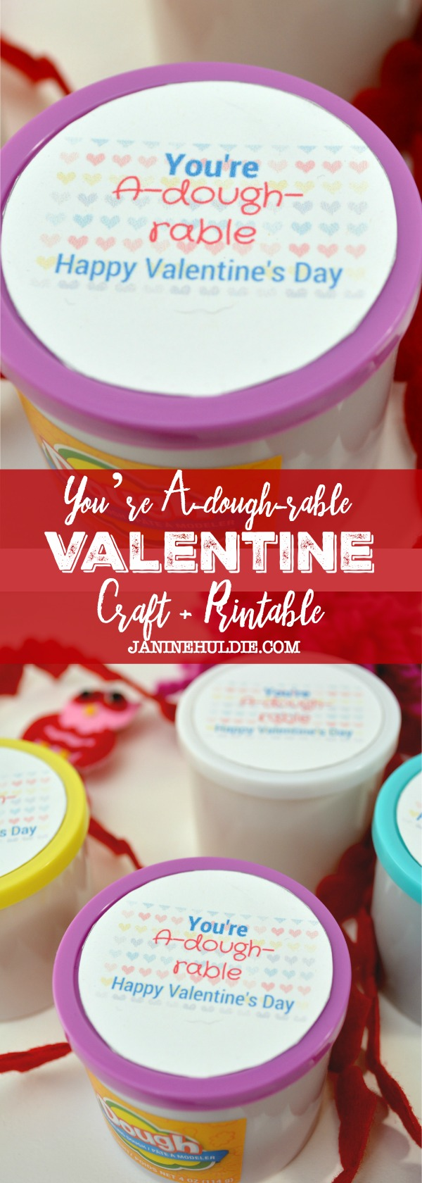 You're A-dough-rable Valentine Craft and Printable